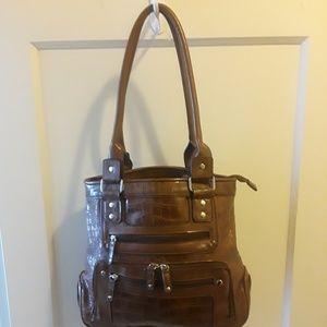 Handbags - Brown Crocodile Printed Pocketbook